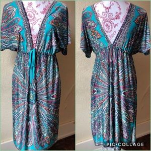 Dressing Gown with a Draw String Waist M/L